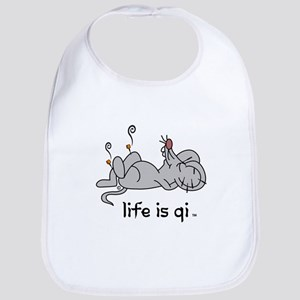 Life is Qi Mouse Acupuncture Moxa Bib