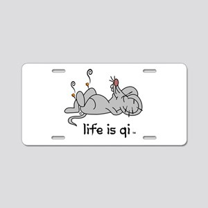 Life is Qi Mouse Acupuncture Moxa Aluminum License