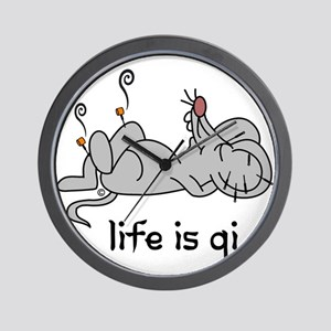 Life is Qi Mouse Acupuncture Moxa Wall Clock