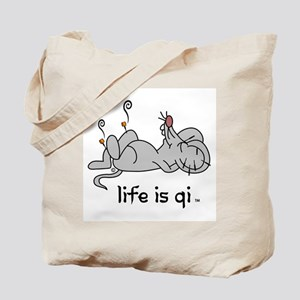 Life is Qi Mouse Acupuncture Moxa Tote Bag