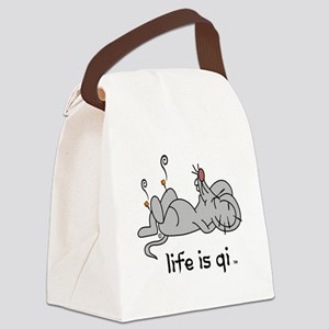 Life is Qi Mouse Acupuncture Moxa Canvas Lunch Bag