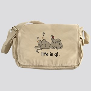 Life is Qi Mouse Acupuncture Moxa Messenger Bag