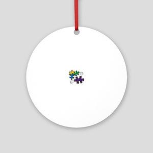 Jigsaw Swirls Ornament (Round)