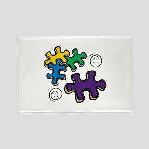 Jigsaw Swirls Magnets