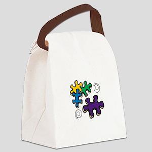 Jigsaw Swirls Canvas Lunch Bag