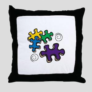 Jigsaw Swirls Throw Pillow