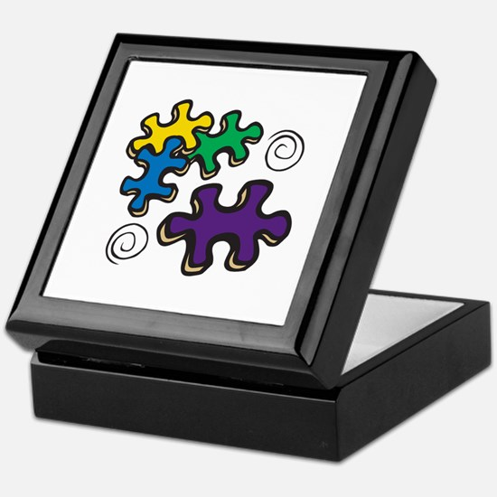 Jigsaw Swirls Keepsake Box