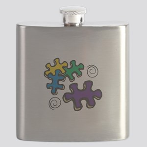 Jigsaw Swirls Flask