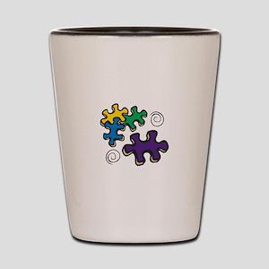Jigsaw Swirls Shot Glass