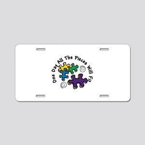 All the Pieces Aluminum License Plate