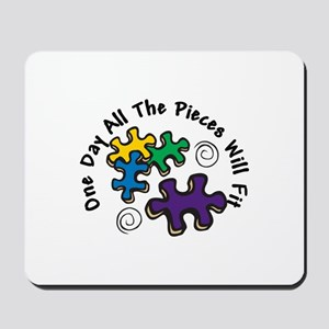 All the Pieces Mousepad
