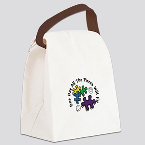 All the Pieces Canvas Lunch Bag