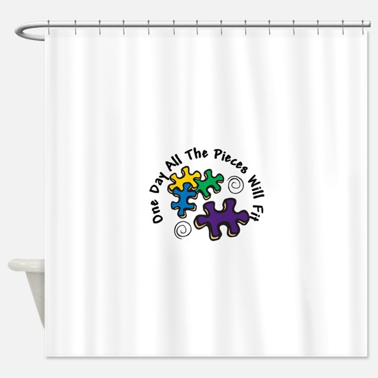 All the Pieces Shower Curtain
