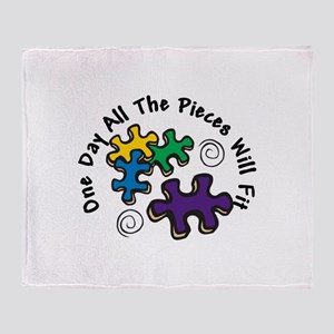 All the Pieces Throw Blanket