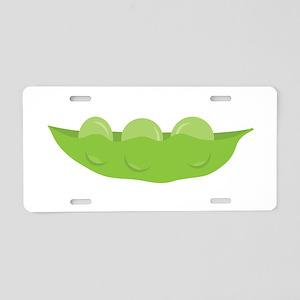 Peas Aluminum License Plate