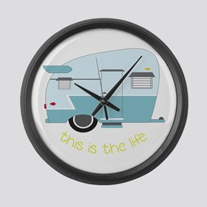 This Is The Life Large Wall Clock