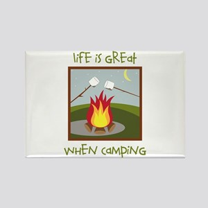 Life Is Great When Camping Magnets
