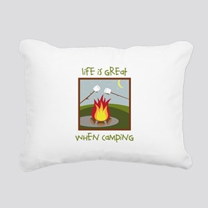 Life Is Great When Camping Rectangular Canvas Pill