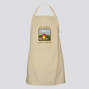 Life Is Great When Camping Apron