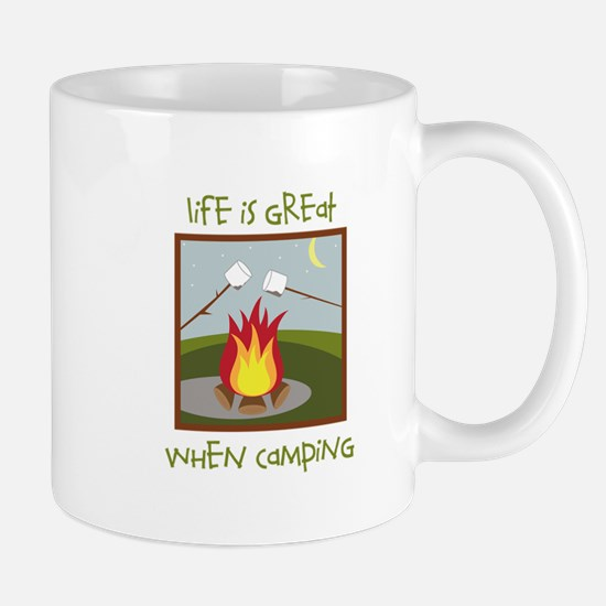 Life Is Great When Camping Mugs