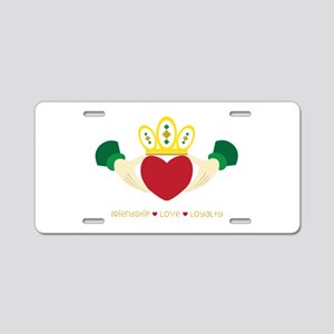 Friendship*Love*Loyalty Aluminum License Plate