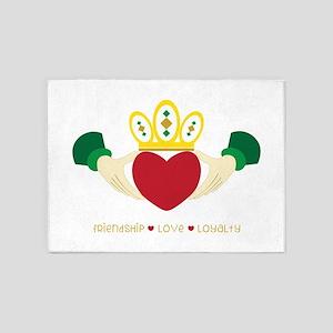 Friendship*Love*Loyalty 5'x7'Area Rug