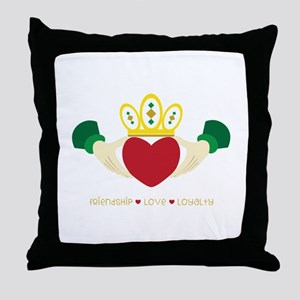Friendship*Love*Loyalty Throw Pillow