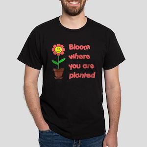 Bloom Where U R Planted Dark T-Shirt