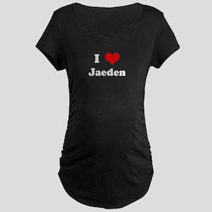 I Love Jaeden Maternity Dark T-Shirt