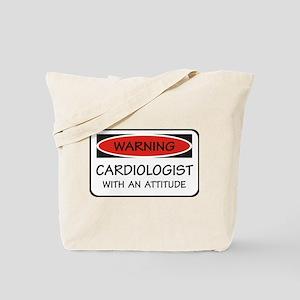 Attitude Cardiologist Tote Bag