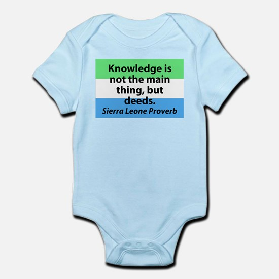 Knowledge Is Not The Main Thing Body Suit