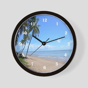 Beach Palm Trees Wall Clock