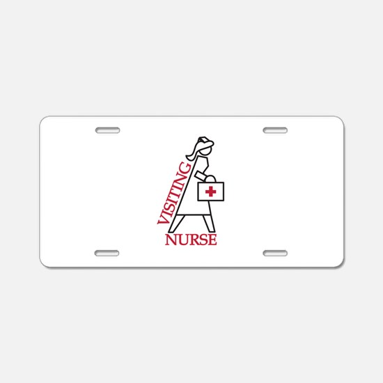 Visiting Nurse Aluminum License Plate