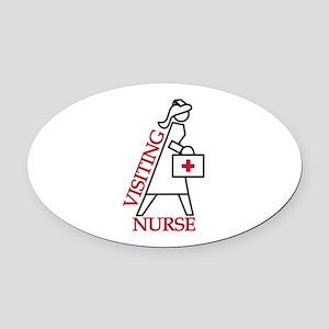 Visiting Nurse Oval Car Magnet