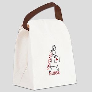 Visiting Nurse Canvas Lunch Bag