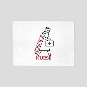 Hospice Nurse 5'x7'Area Rug