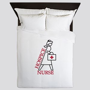 Hospice Nurse Queen Duvet