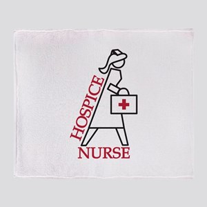 Hospice Nurse Throw Blanket