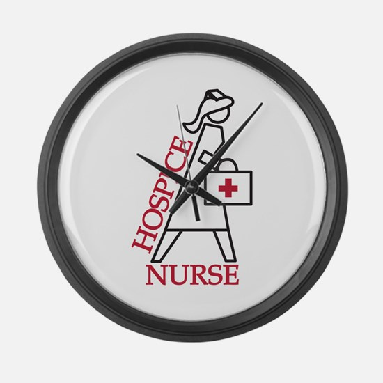 Hospice Nurse Large Wall Clock