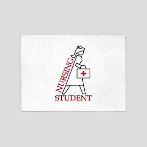 Nursing Student 5'x7'Area Rug