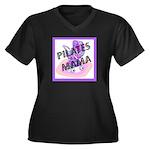Pilates Mama Women's Plus Size V-Neck Dark T-Shirt