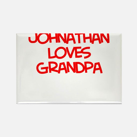 Johnathan Loves Grandpa Rectangle Magnet