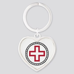 Circled Red Cross Keychains