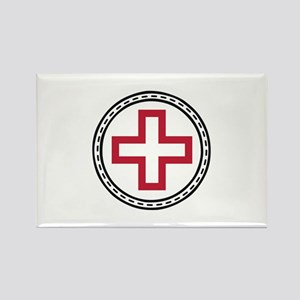 Circled Red Cross Magnets
