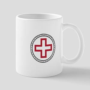 Circled Red Cross Mugs