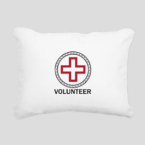 Volunteer Red Cross Rectangular Canvas Pillow