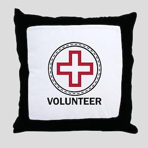 Volunteer Red Cross Throw Pillow