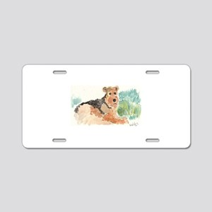 Airedale Terrier Aluminum License Plate