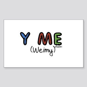 Y Me (Weimy) Rectangle Sticker