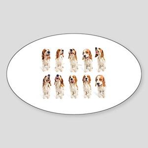 Beagle Grimaces Sticker (Oval)